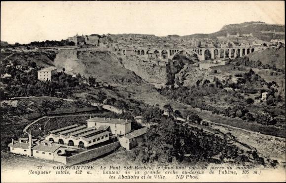 Ak Constantine Algerien, Le Pont Sidi Rached, le plus pont en pierre du monde