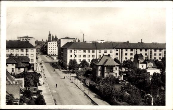 Ak Hradec Králové Königgrätz Stadt, Jungmannova trida, Straßenpartie