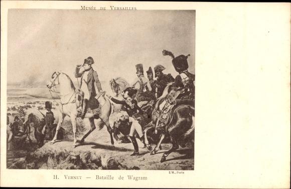 Künstler Ak Vernet, Bataille de Wagram, Napoleon Ier, Musée de Versailles