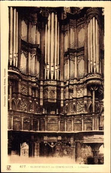 Ak St. Bertrand de Comminges Haute Garonne, L'Orgue, Blick auf die Orgel