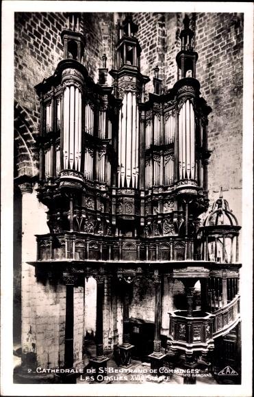 Ak Saint Bertrand de Comminges Haute Garonne, L'Orgue, Blick auf die Orgel
