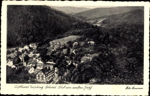 Ak Treseburg Thale im Harz, Bodetal, Blick vom weißen Hirsch