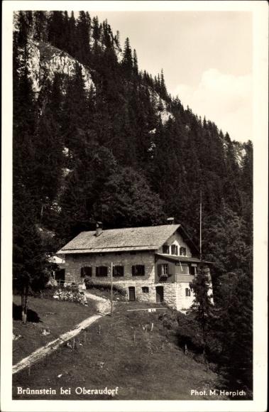 Ak Oberaudorf im Kreis Rosenheim Oberbayern, Das Brünnsteinhaus