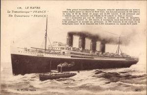 Ak Le Havre Seine Maritime, Paquebot France, Transatlantique, CGT, French Line