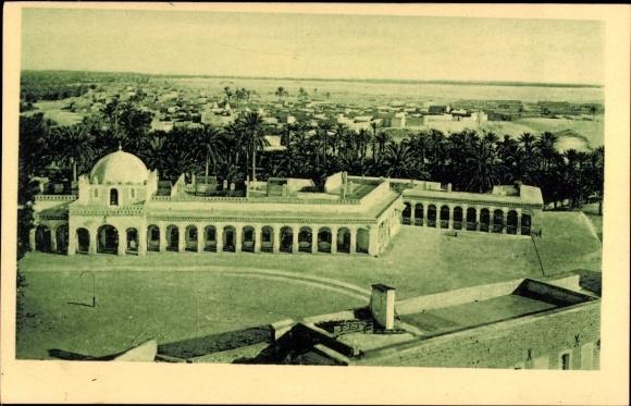 Ak touggourt algerien bureau arabe panorama palme platz nr