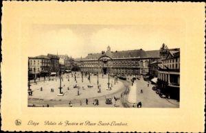 Ak Liège Lüttich Wallonien Belgien, Palais de Justice et Place Saint Lambert