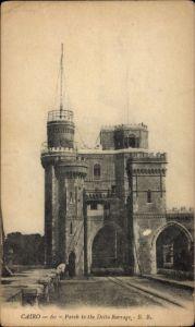 Ak Cairo Kairo Ägypten, Parch to the Delta Barrage, Talsperre, Tor