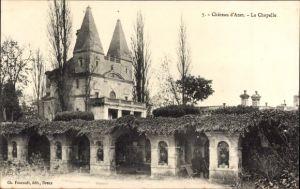 Ak Anet Eure et Loir, Chateau d'Anet, la Chapelle, Blick auf die Kapelle
