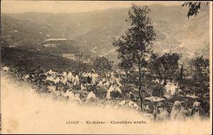 Ak Algier Alger Algerien, El Ketar, Cimetiere arabe, arabischer Friedhof
