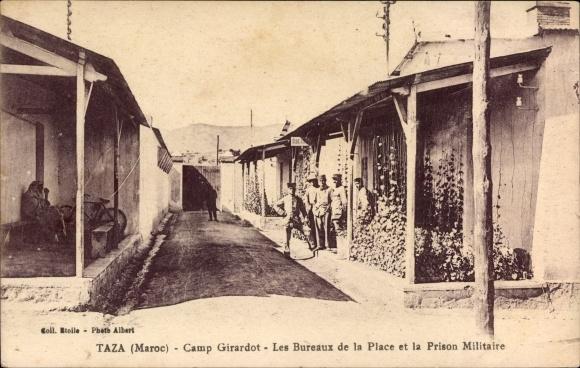 Ak Taza Marokko, Camp Girardot, Les Bureaux de la Place et la Prison Militaire