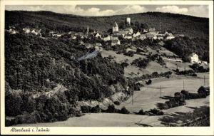 Ak Altweilnau Weilrod im Weiltal Hochtaunuskreis, Blick auf den Ort, Turm