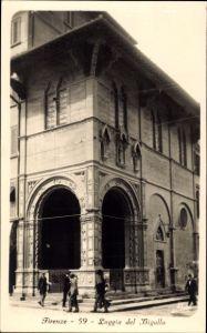 Ak Firenze Florenz Toscana, Loggia del Bigallo, Gebäudefassade