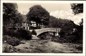 Ak Dahlerbrück Schalksmühle im Sauerland, Flusspartie, Brücke, Haus