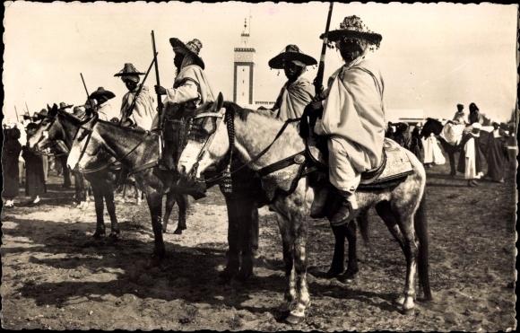 Ak Marokko, Scènes et Types, Cavaliers Indigènes, Marokkanische Reiter