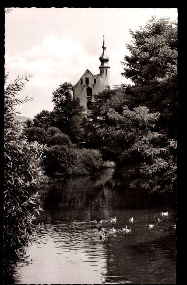 Ak Neckarelz Mosbach im Neckar Odenwald Kreis, Blick auf die Johanniterkirche