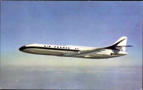 Ak Caravelle, Air France, Französisches Passagierflugzeug