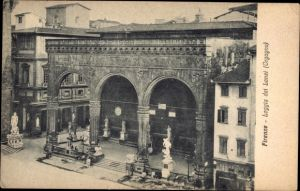 Ak Firenze Florenz Toscana, Loggia del Lanzi, Orgagna
