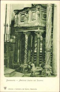 Ak Benevento Campania Italien, Ambone destro nel Duomo, Kirche, Inneres