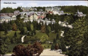 Ak Oberhof im Thüringer Wald, Blick auf den Ort, Parkanlage, Häuser