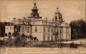 Ak Modave Wallonien Lüttich, Facade du Château, Reconstruite par Jean Gaspard