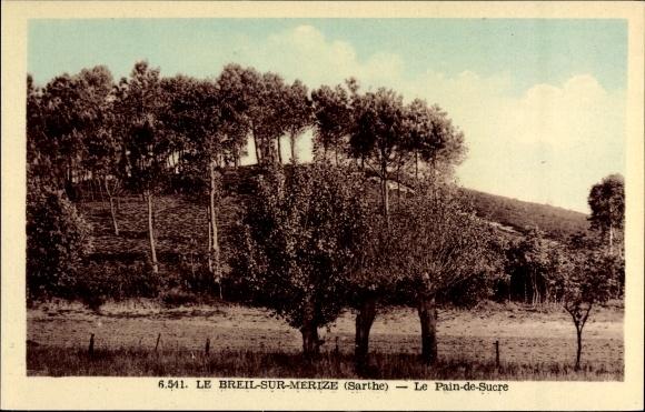 Ak Le Breil sur Merize Sarthe, Le Pain de Sucre, Zuckerhut