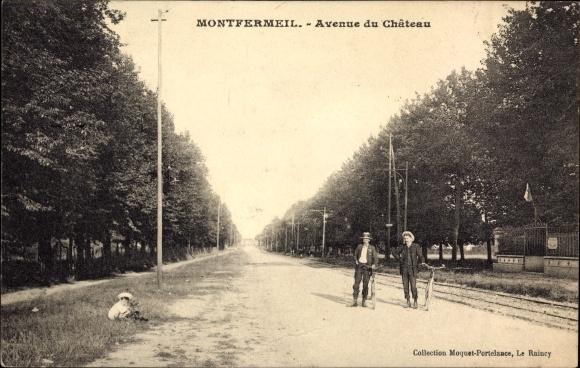 Ak Montfermeil Seine Saint Denis, Avenue du Château