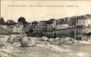 Ak Pont Sainte Maxence Oise, Pont construit par Perronnet en 1774