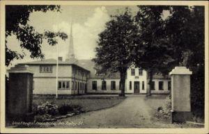 Ak Middelfart Dänemark, Vesterdal Hojskole, Nr. Aaby St., church