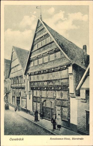 Ak Osnabrück in Niedersachsen, Renaissance Haus, Bierstraße