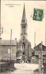 Ak Maromme Seine Maritime, L'Église, Ansicht der Kirche