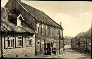 Ak Benneckenstein Oberharz am Brocken, Blick in die Bahnhofstraße