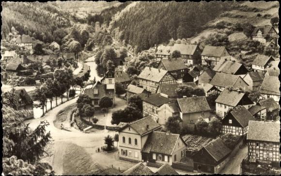 Ak Neuwerk Rübeland Oberharz am Brocken, Neuwerk, Straßenpartie
