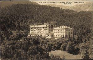 Ak Saint Cergue Kt. Waadt, Grand Hotel de l'Observatoire et la Dole