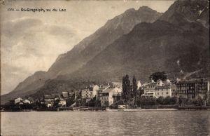 Ak St. Saint Gingolph Kt. Wallis Schweiz, Vue du Lac, Blick auf den Ort
