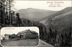 Ak Brotterode Trusetal in Thüringen, Preussischer Hof, Großer Inselsberg