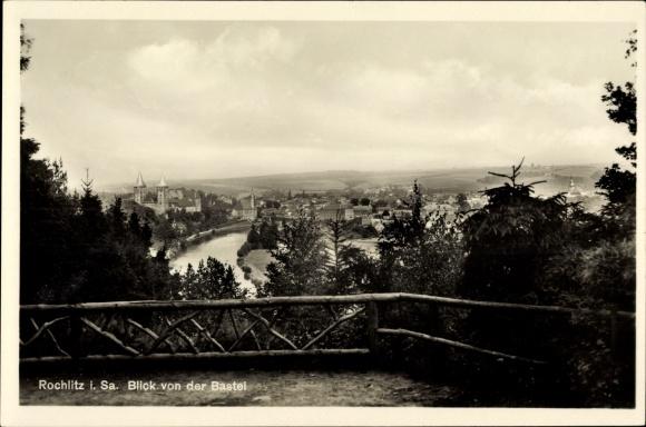 Ak Rochlitz an der Mulde, Blick von der Bastei, Terrasse