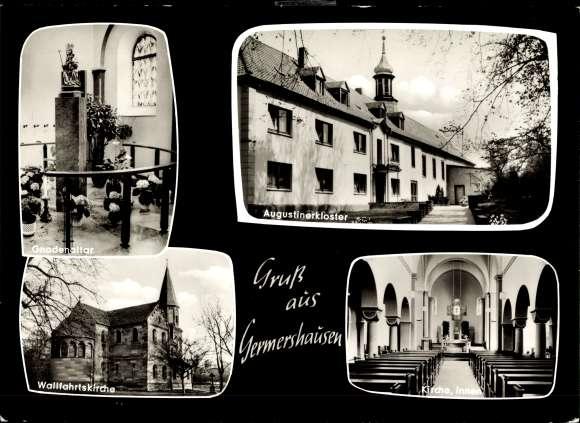 Ak Germershausen Rollshausen, Augustinerkloster, Gnadenaltar, Wallfahrtskirche