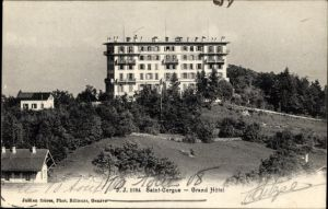 Ak Saint Cergue Kt. Waadt, Blick auf das Grand Hotel, Häuser