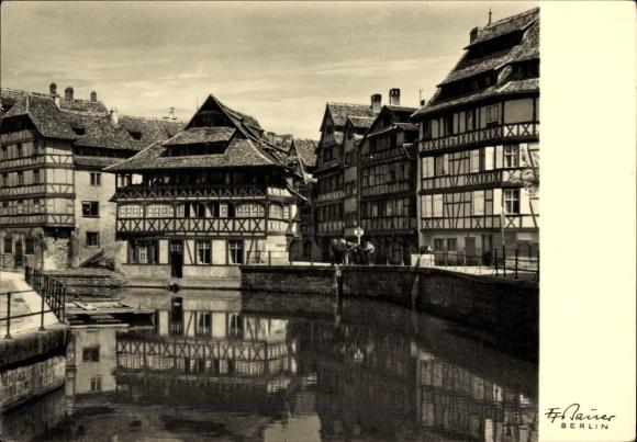 Ak Straßburg Elsaß Bas Rhin, Friedrich Franz Bauer, Pflanzbad