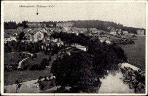 Ak Oberhof im Thüringer Wald, Erholungsheim Thüringer Volk, Blick auf den Ort
