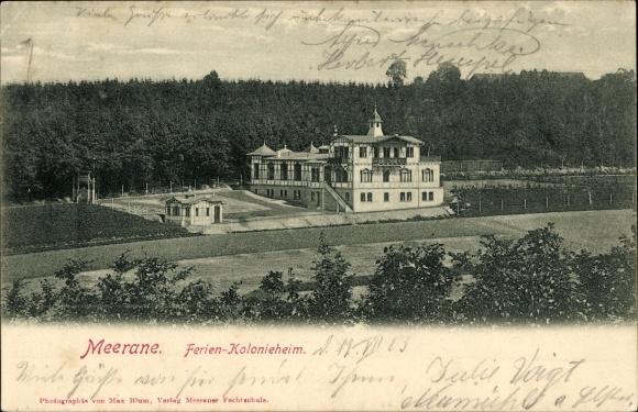 Ak Meerane in Sachsen, Blick auf das Ferien Kolonieheim