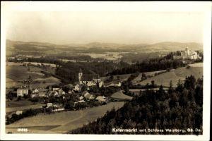 Ak Kefermarkt Oberösterreich, Gesamtansicht des Ortes mit Schloss Weinberg
