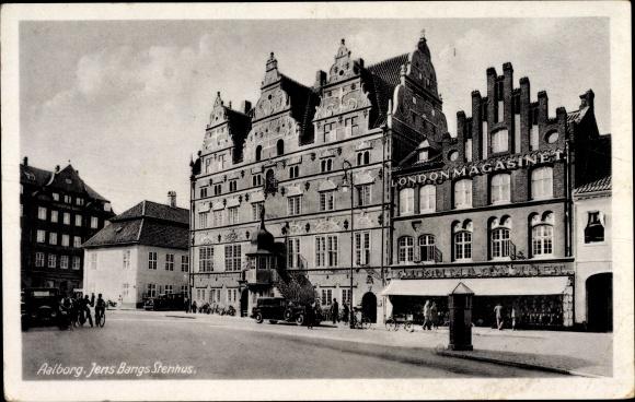 Ak Ålborg Aalborg Dänemark, Jens Bangs Stenhus, Gebäude, Platz