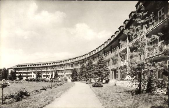 Ak Dölau Halle an der Saale, Das Bezirkskrankenhaus, Rückseite