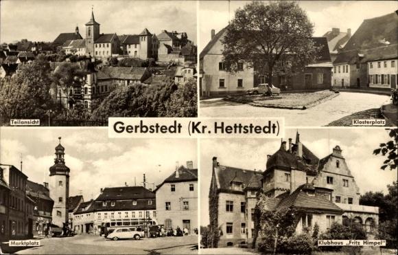 Ak Gerbstedt im Kreis Mansfeld Südharz, Klubhaus Fritz Himpel, Klosterplatz