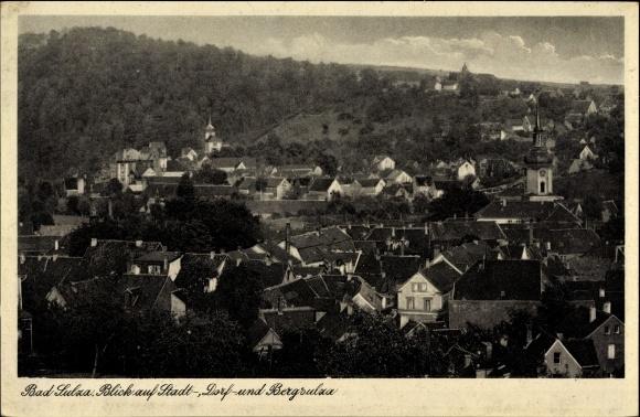 Ak Bad Sulza im Weimarer Land Thüringen, Blick auf die Stadt, Dorf und Bergsulza