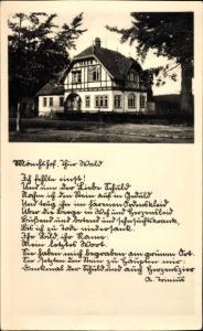 Foto Ak Elgersburg im Ilm Kreis Thüringen, Der Mönchshof von außen