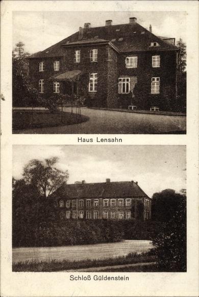 Ak Lensahn in Holstein, Blick auf das Haus Lensahn und Schloss Güldenstein