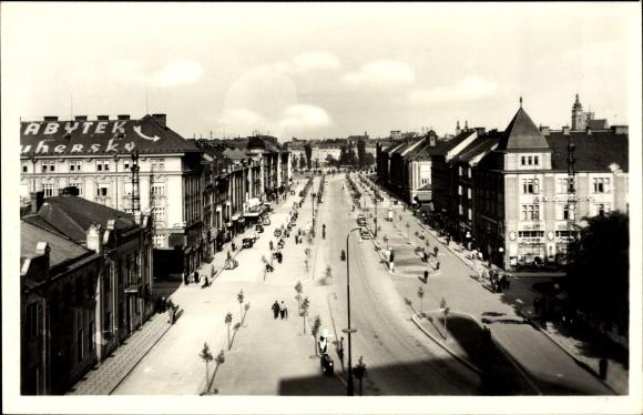 Ak Hradec Králové Königgrätz Stadt, Bismarckstraße, Bismarckova Trida