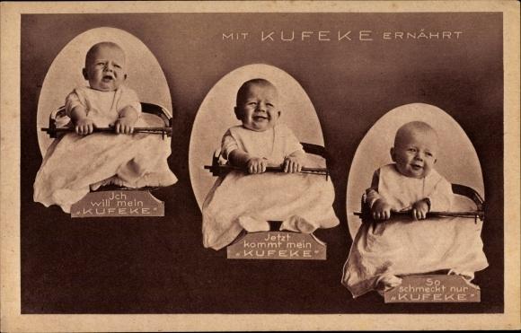 ak werbung f r das medikament kufeke baby in einem stuhl nr 7725145 oldthing reklame werbung. Black Bedroom Furniture Sets. Home Design Ideas